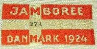 Badge du jamboree de 1924.